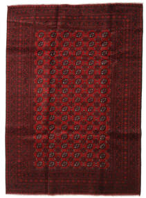 Afghan Rug 202X279 Authentic  Oriental Handknotted Dark Red/Crimson Red (Wool, Afghanistan)