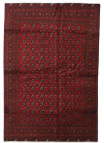 Afghan Vloerkleed 189X279 Echt Oosters Handgeknoopt Donkerrood (Wol, Afghanistan)