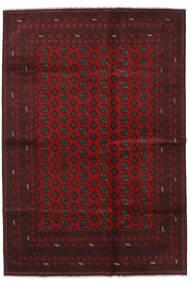 Afghan Matto 202X293 Itämainen Käsinsolmittu Tummanpunainen/Tummanruskea (Villa, Afganistan)