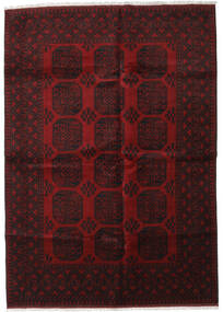 Afghan Rug 201X282 Authentic  Oriental Handknotted Dark Brown/Dark Red (Wool, Afghanistan)
