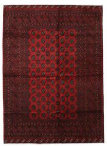 Afghan Rug 206X286 Authentic  Oriental Handknotted Dark Red (Wool, Afghanistan)