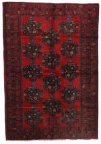 バルーチ 絨毯 200X290 オリエンタル 手織り 濃い茶色/深紅色の (ウール, アフガニスタン)