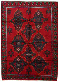 Baluch Rug 210X290 Authentic  Oriental Handknotted Dark Red/Crimson Red (Wool, Afghanistan)