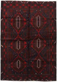Baloutche Tapis 196X280 D'orient Fait Main Marron Foncé/Rouge Foncé (Laine, Afghanistan)