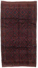 Belutsch Teppich  150X275 Echter Orientalischer Handgeknüpfter Dunkelbraun/Dunkelrot (Wolle, Afghanistan)