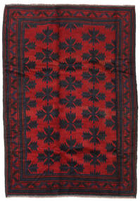 Baluch Rug 182X260 Authentic Oriental Handknotted Black/Crimson Red (Wool, Afghanistan)