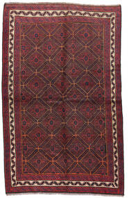 Baluch Rug 150X240 Authentic Oriental Handknotted Dark Red/Brown (Wool, Afghanistan)