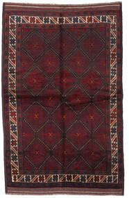 Beluch Vloerkleed 150X235 Echt Oosters Handgeknoopt Donkerrood (Wol, Afghanistan)