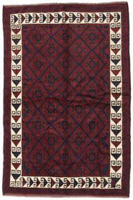Beluch Matta 160X240 Äkta Orientalisk Handknuten Mörkgrå/Mörkröd (Ull, Afghanistan)
