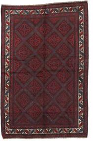 Beluch Matta 150X230 Äkta Orientalisk Handknuten Svart/Mörkbrun/Mörkröd (Ull, Afghanistan)