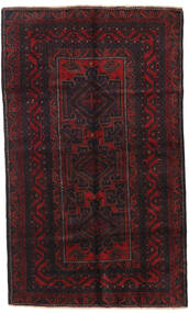Beluch Matta 140X233 Äkta Orientalisk Handknuten Svart/Mörkröd (Ull, Afghanistan)