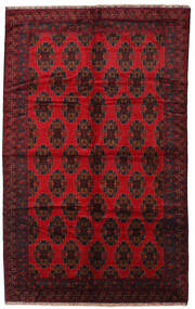 Baluch Rug 225X370 Authentic  Oriental Handknotted Dark Red/Crimson Red (Wool, Afghanistan)