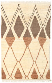 Barchi/Moroccan Berber - Afganistan Rug 121X194 Authentic  Modern Handknotted Beige/Light Brown (Wool, Afghanistan)