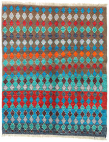 Barchi/Moroccan Berber - Afganistan Matto 156X195 Moderni Käsinsolmittu Siniturkoosi/Vaaleanruskea (Villa, Afganistan)