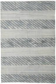 Kilim Ariana Rug 197X297 Authentic  Modern Handwoven Light Grey/Turquoise Blue (Wool, Afghanistan)