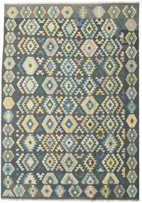 Kilim Afgan Old Style Dywan 203X292 Orientalny Tkany Ręcznie Ciemnoszary/Niebieski (Wełna, Afganistan)
