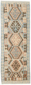 Kilim Afghan Old Style Rug 86X246 Authentic Oriental Handwoven Hallway Runner Light Grey/Brown (Wool, Afghanistan)