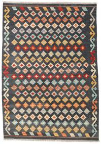 Kilim Afgan Old Style Dywan 122X177 Orientalny Tkany Ręcznie Ciemnoszary/Ciemnobrązowy (Wełna, Afganistan)