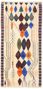 Barchi/Moroccan Berber - Afganistan Matta 92X189 Äkta Modern Handknuten Beige/Ljusrosa (Ull, Afghanistan)