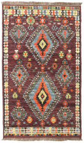 Barchi/Moroccan Berber - Afganistan Rug 114X192 Authentic  Modern Handknotted Dark Red/Dark Brown (Wool, Afghanistan)
