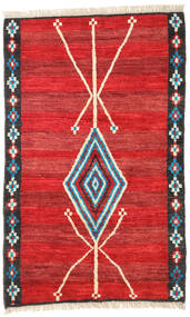 Barchi/Moroccan Berber - Afganistan Rug 118X187 Authentic  Modern Handknotted Rust Red/Crimson Red (Wool, Afghanistan)