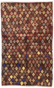Barchi/Moroccan Berber - Afganistan Matto 111X179 Moderni Käsinsolmittu Tummanruskea/Tummanpunainen (Villa, Afganistan)