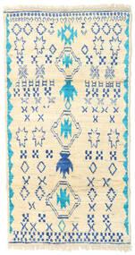 Barchi/Moroccan Berber - Afganistan Dywan 85X185 Nowoczesny Tkany Ręcznie Beżowy/Ciemnobeżowy (Wełna, Afganistan)