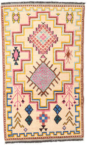 Barchi/Moroccan Berber - Afganistan Matto 115X191 Moderni Käsinsolmittu Beige/Tummanbeige (Villa, Afganistan)