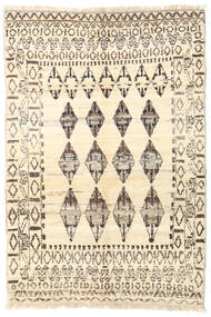 Barchi/Moroccan Berber - Afganistan Rug 126X188 Authentic  Modern Handknotted Beige/Light Grey (Wool, Afghanistan)