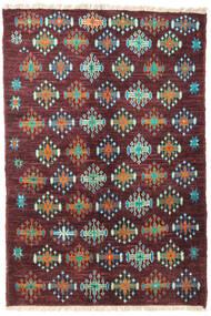 Barchi/Moroccan Berber - Afganistan Matto 125X187 Moderni Käsinsolmittu Tummanpunainen/Tummanvioletti (Villa, Afganistan)