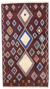 Barchi/Moroccan Berber - Afganistan Matta 101X179 Äkta Modern Handknuten Mörkbrun/Mörklila (Ull, Afghanistan)