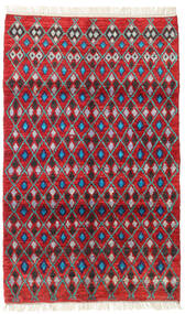 Barchi/Moroccan Berber - Afganistan Rug 113X188 Authentic  Modern Handknotted Crimson Red/Dark Red (Wool, Afghanistan)