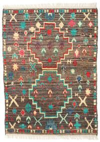 Barchi/Moroccan Berber - Afganistan Teppich  109X150 Echter Moderner Handgeknüpfter Hellbraun/Beige (Wolle, Afghanistan)