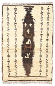 Barchi/Moroccan Berber - Afganistan Rug 86X129 Authentic  Modern Handknotted Beige/Dark Grey (Wool, Afghanistan)