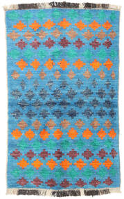 Barchi/Moroccan Berber - Afganistan Teppich  91X146 Echter Moderner Handgeknüpfter Türkisblau/Blau (Wolle, Afghanistan)