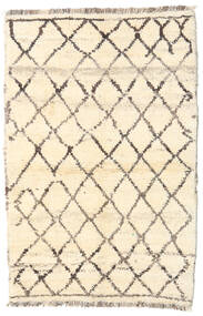 Barchi/Moroccan Berber - Afganistan Rug 91X138 Authentic  Modern Handknotted Beige/Light Pink (Wool, Afghanistan)