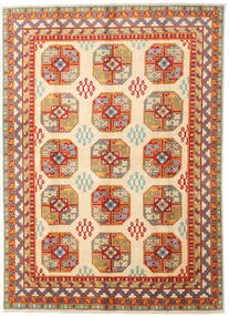 Afgan Dywan 169X233 Orientalny Tkany Ręcznie Beżowy/Ciemnoczerwony (Wełna, Afganistan)