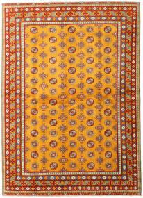 Afghan Matta 169X235 Äkta Orientalisk Handknuten Orange/Ljusbrun (Ull, Afghanistan)