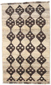 Barchi/Moroccan Berber - Afganistan Rug 118X190 Authentic  Modern Handknotted Beige/Dark Brown/Light Grey (Wool, Afghanistan)