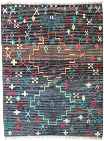 Barchi/Moroccan Berber - Afganistan Teppich 210X278 Echter Moderner Handgeknüpfter Dunkelblau/Dunkelgrau (Wolle, Afghanistan)