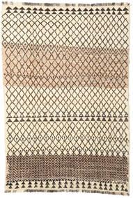 Barchi/Moroccan Berber - Afganistan Matta 194X286 Äkta Modern Handknuten Beige/Mörkbrun (Ull, Afghanistan)