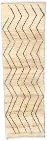 Barchi/Moroccan Berber - Afganistan Rug 85X280 Authentic  Modern Handknotted Hallway Runner  Beige/Dark Beige (Wool, Afghanistan)