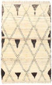 Barchi/Moroccan Berber - Afganistan Rug 118X189 Authentic  Modern Handknotted Beige/Light Pink (Wool, Afghanistan)