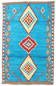 Barchi/Moroccan Berber - Afganistan Rug 115X176 Authentic  Modern Handknotted Light Blue/Dark Turquoise   (Wool, Afghanistan)