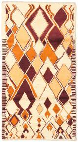 Barchi/Moroccan Berber - Afganistan Dywan 104X190 Nowoczesny Tkany Ręcznie Beżowy/Ciemnoczerwony (Wełna, Afganistan)