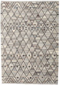 Kilim Ariana Rug 211X298 Authentic  Modern Handwoven Light Grey/Dark Grey (Wool, Afghanistan)