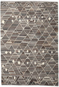 Kilim Ariana Rug 205X298 Authentic  Modern Handwoven Light Grey/Dark Grey (Wool, Afghanistan)