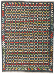 Kilim Afghan Old Style Rug 146X199 Authentic  Oriental Handwoven Dark Grey (Wool, Afghanistan)