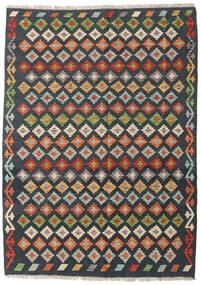 Kilim Afghan Old Style Rug 137X191 Authentic  Oriental Handwoven Dark Grey/Light Brown (Wool, Afghanistan)