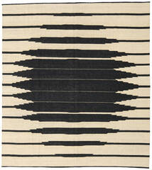 Kilim Modern Rug 263X294 Authentic  Modern Handwoven Beige/Black Large (Wool, Afghanistan)